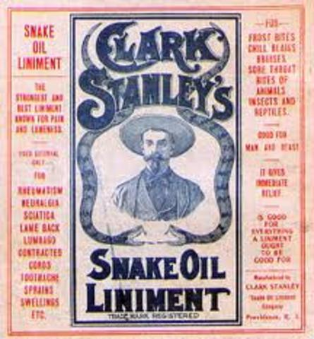 Clark Stanley fined $20 for false advertising