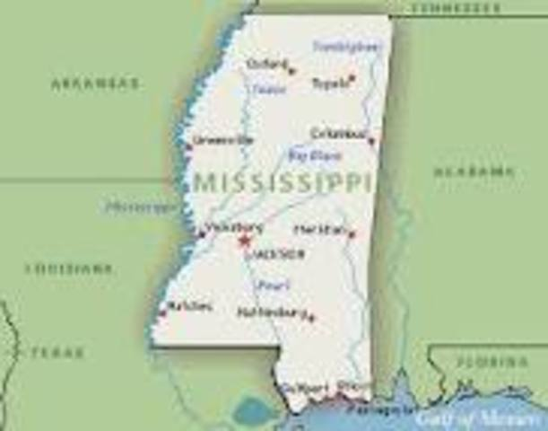 Mississippi Becomes the 20th State