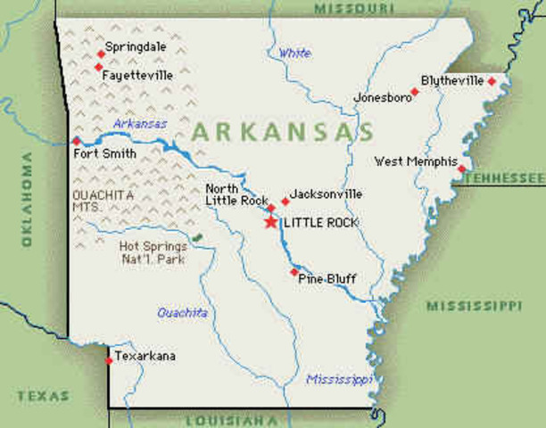 Arkansas Becomes 25th State