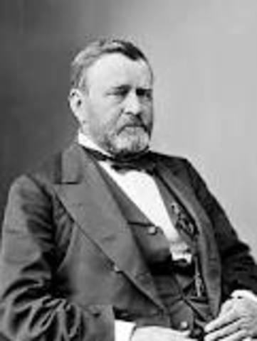 Ulysses S. Grant was inaugurated