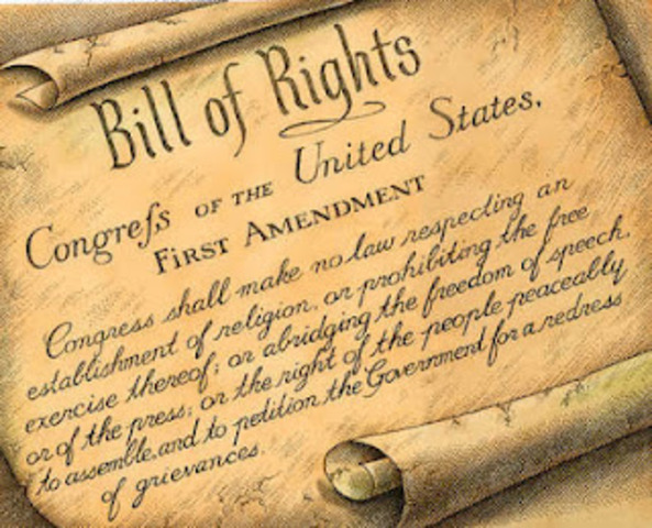 Bill of Rights are Ratified