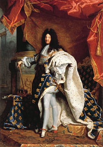 Louis XIV becomes the king of France