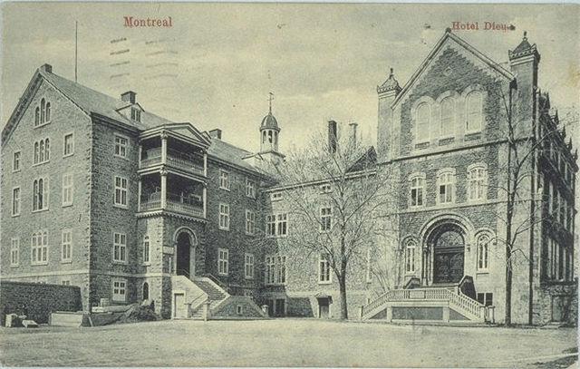 Jeanne Mance founds the Hotel-Dieu de Montreal