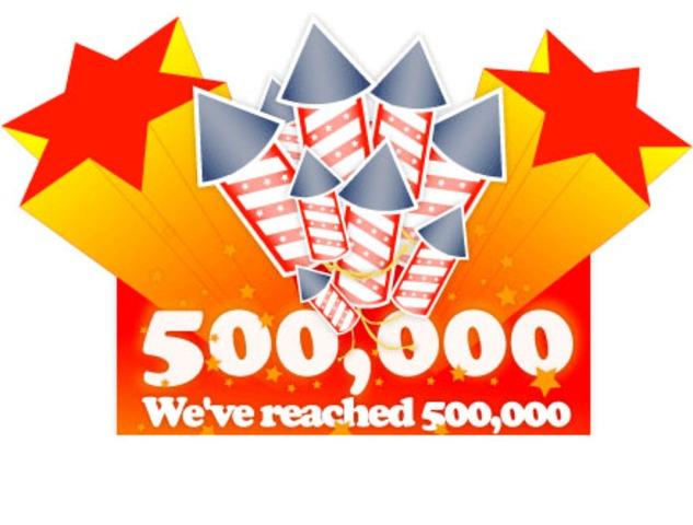 Membership breaks 500,000