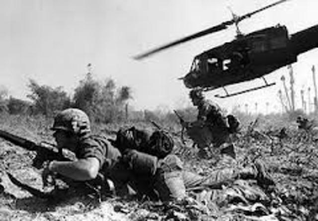 The Vietnam war began