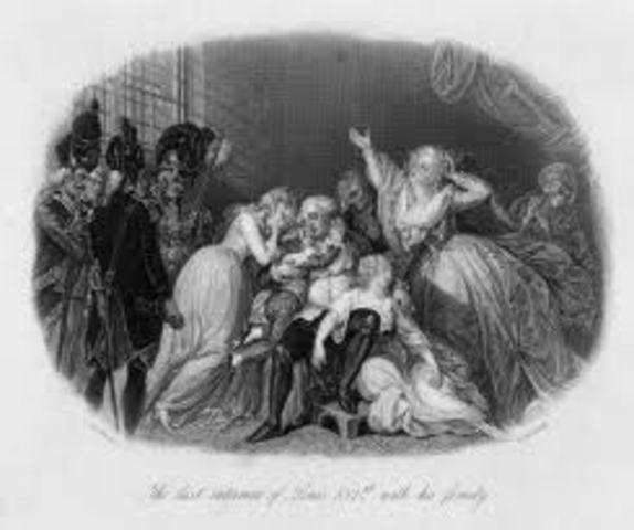 Louis and his family were imprisoned.