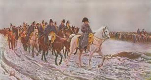 Napoleon lost to Russia!