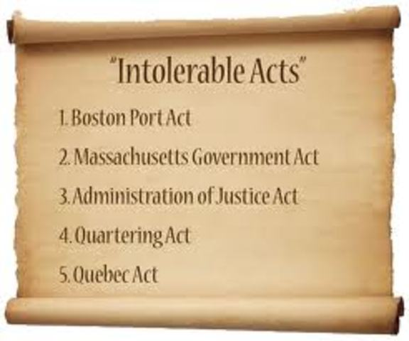 Intolerable Acts (Coercive Acts) ( see picture)