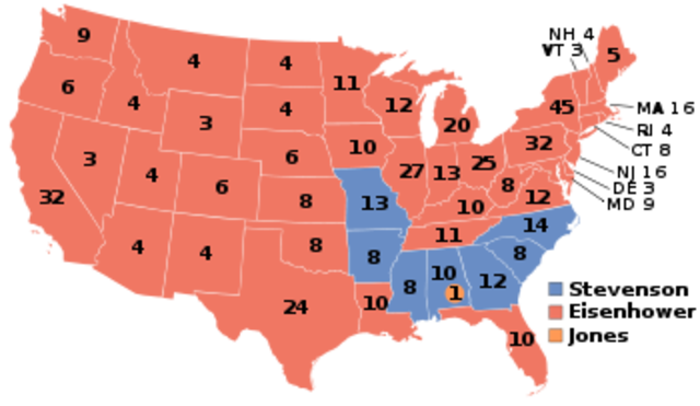 United States Presidential Election on the year of 1956 (Part 1)