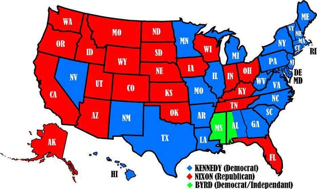 United States Presidential Election on the year of 1960 (Part 1)