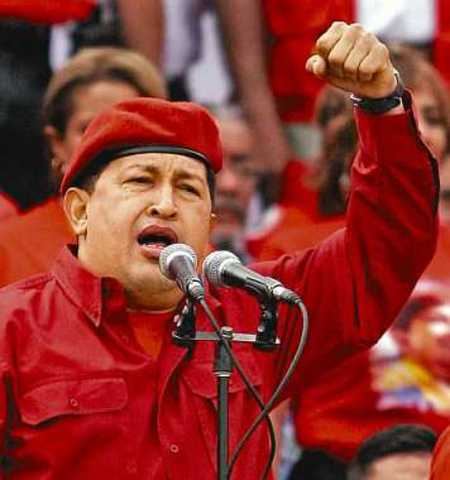 Hugo Chavez, presidente.