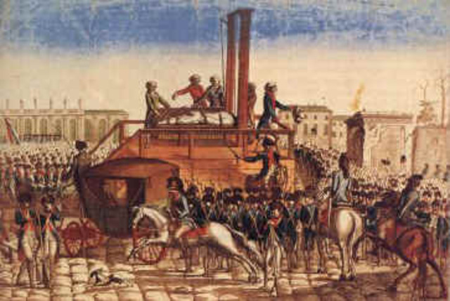 King Louis XVI was killed on the guillotine.