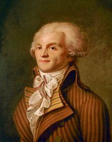 Jacobin leader, Maximilien Robespierre, slowly gained power.