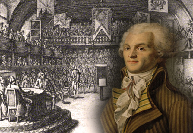 Robespierre as leader.