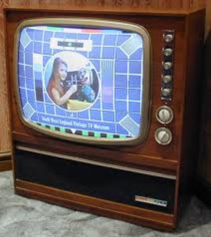 The first color televisions go on sale.