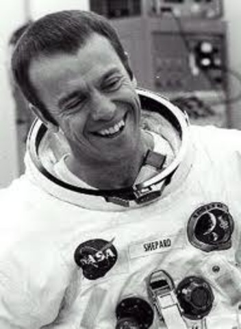 It sends the first astronaut into space. - Alan Shepard