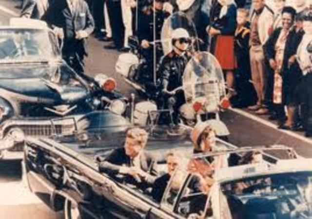 John F. Kennedy gets assassinated.