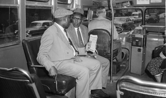 U.S. Supreme Court ends race segregation on buses.