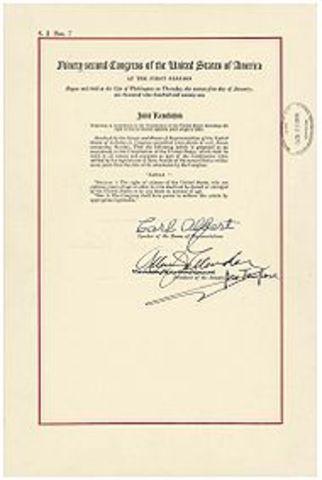 The Twenty-sixth Amendment made on the year of 1971