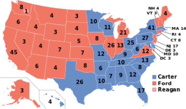 United States presidential  election on the year of 1976