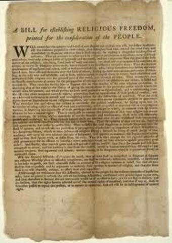 Bill for Establishing Religious Freedom
