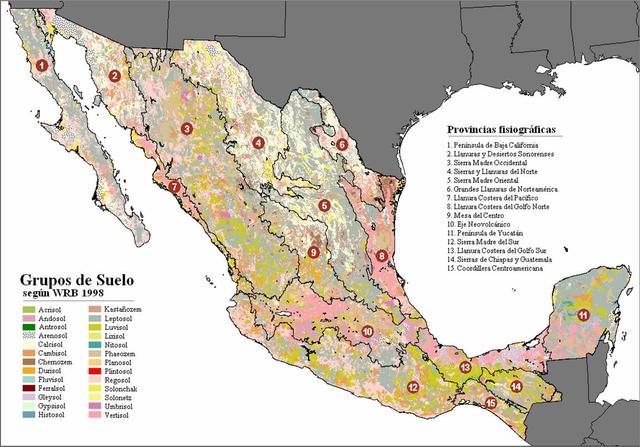 Primera carta geografica de la republica mexicana