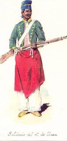 El fusilamiento del general colorado César Díaz