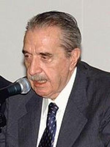 Posisión presidencial de Raul Alfonsín.