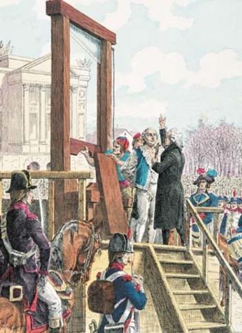 End of King Louis XVI Reign