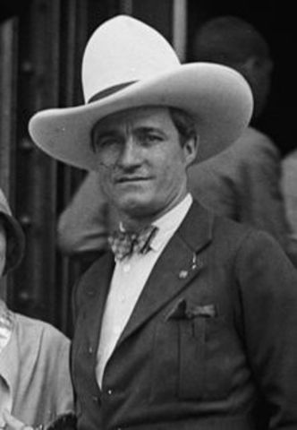 Silent Western Movies With Tom Mix Are Shot