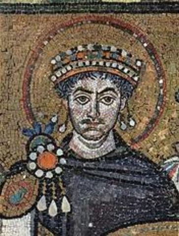 Emperor Justinian becomes king.
