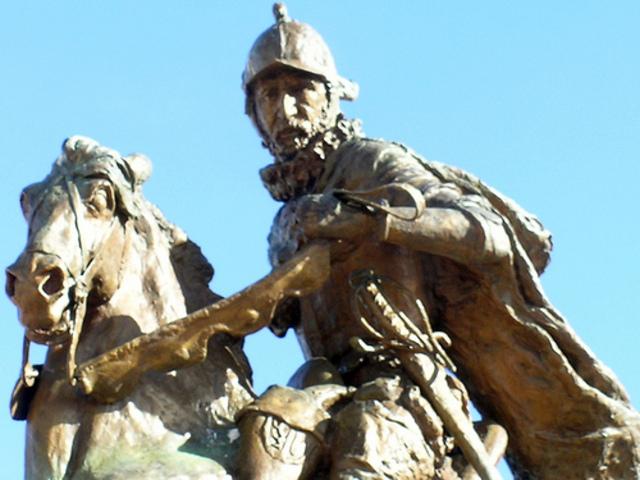 Juan de Onate  establishes the first Spanish capital of San Juan de los Caballeros