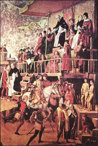 The Spanish Inquisition established in New Mexico.
