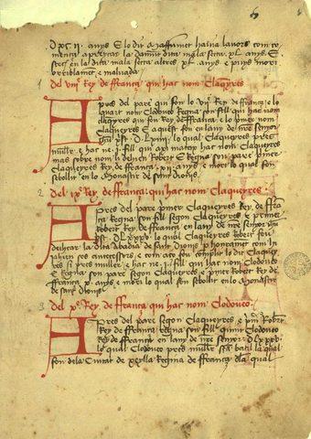 Crònica de Bernat d'Esclot
