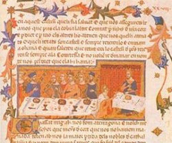 Jaume I acaba el llibre de les feyts