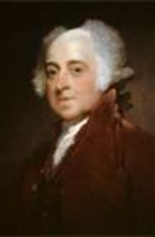 John Adams takes office as POTUS