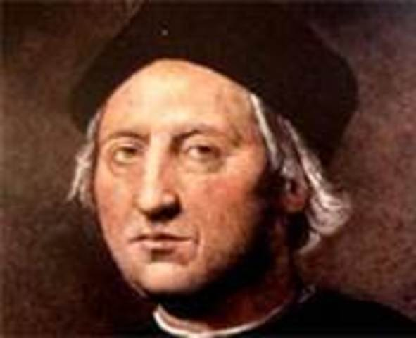 """Christopher Columbus """"discovers"""" America"""