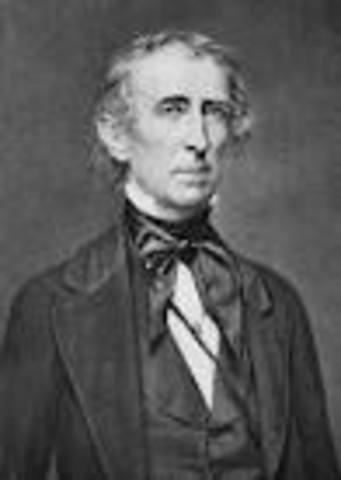 John Tyler takes office as POTUS