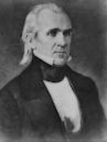 James Knox Polk takes office as POTUS