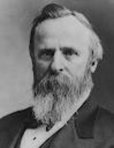 Rutherford Birchard Hayes takes office as POTUS
