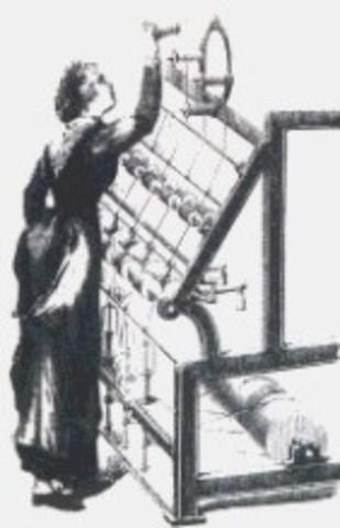 Telar de tarjetas perforadas de Jacquard