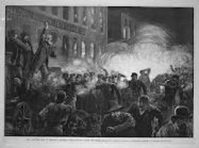 Muerte de los Obreros, en chicago