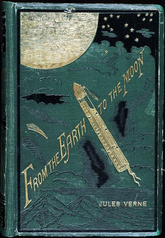 Jules Verne writes De la Terre à la Lune