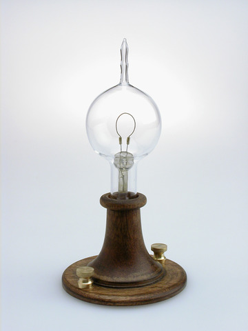 The invention of the electric light bulb