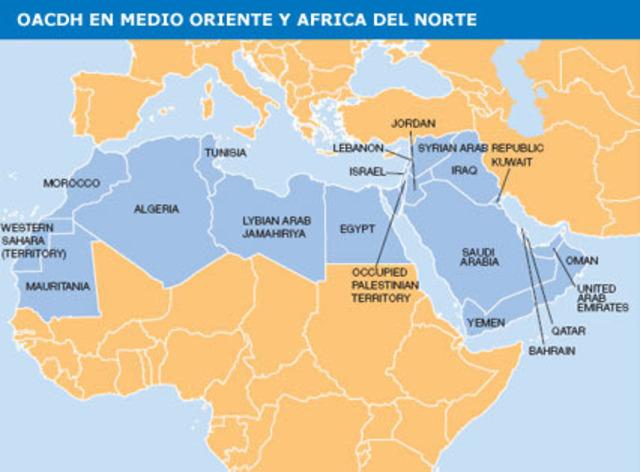África septentrional y el Oriente Medio