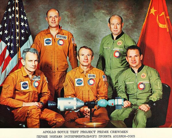 First joint Soviet-U.S. spaceflight