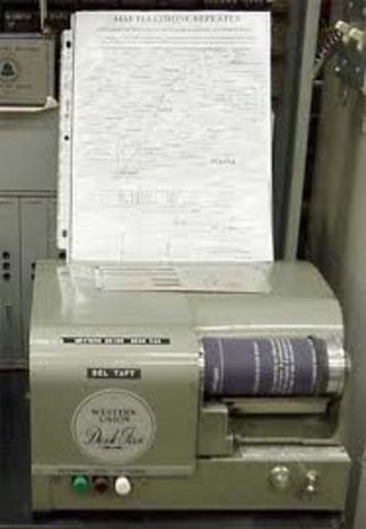 First Fax Machine