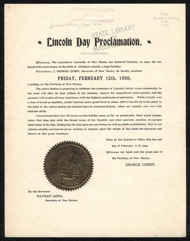 Lincoln Day Proclamation