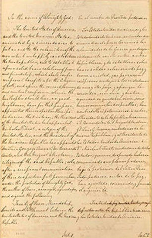 Treaty of Guadalupe Hidalgo ends Mexican-American War.