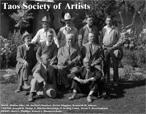 The Taos Society Of artists is founded